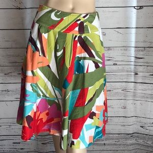Final Touch bright tropical floral skirt
